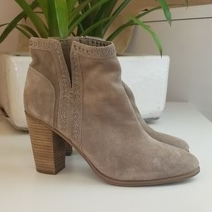 Vince Camuto Taupe Suede Booties